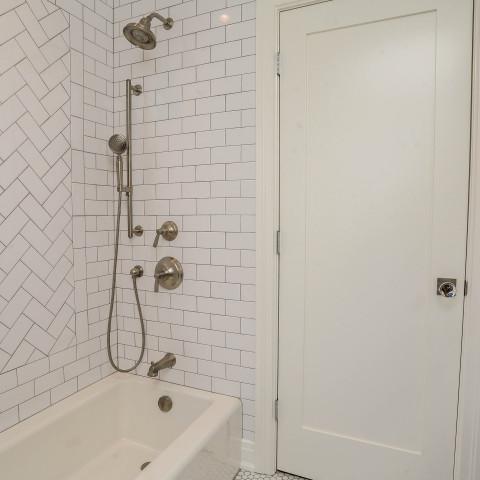 Herringbone White Subway Tiles